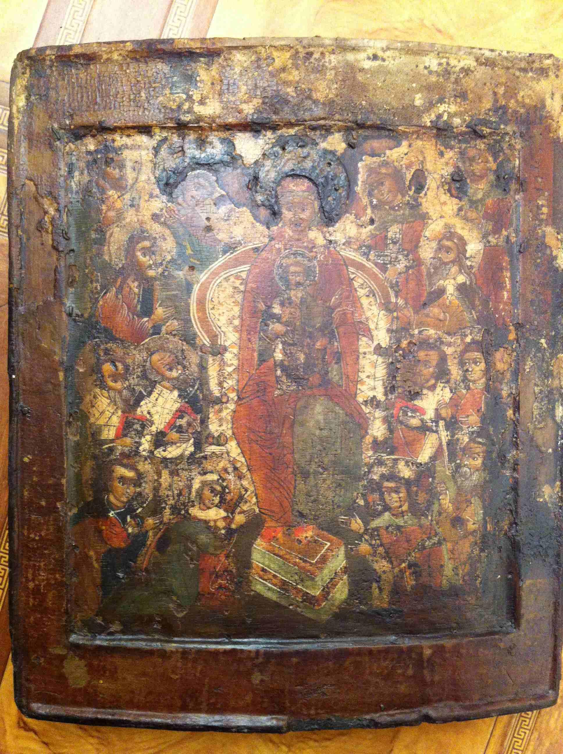 макияжа голубых коллекция старинных икон фото способствовал